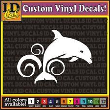 "4"" Dolphin porpoise water fishing car window vinyl decal Sticker"