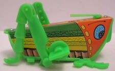 Fantastic Old Tin Litho & Plastic W Up Toy Grasshopper YONE Japan 1960-70s as is