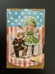 Vintage Tuck Postcard, Patriotic, With Freedoms Soil, Independence Day, No. 109
