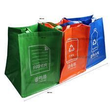 Recycle Bags Trash Bin Waste Separation System 3PCS/SET
