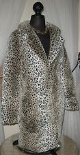 Charly Calder SF SEXY M Faux Fur Mid Thigh Jacket Coat VANUS CAT Print Animal