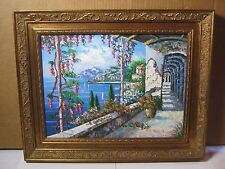 Vintage Original Rare Oil Painting on Canvas by K Wallis Framed    T*