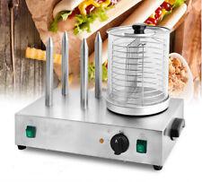 110V Electric Hot Dog Machine 4 Sticks Sausage Bun Warmer Hotdog Steamer