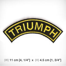 new TRIUMPH EMBROIDERED PATCH IRON ON OR SEW, Motorcycles BIG BIKE Rider Freedom