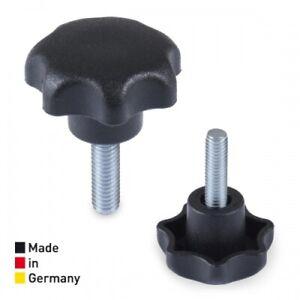 M8 x 40 mm Au/ßengewinde Stahl Schraube Plastik Kunststoff Sternschraube Aussengewinde R/ändel Schraube f/ür Werkzeugmaschine M/öbel Sterngriff Schrauben 15Stk