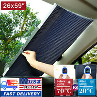 Front Car Retractable Windshield Sun Shade Visor SUV Window Folding Block Cover