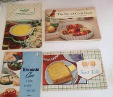 Rare Vintage Lot of 4 Cookbook  Recipe BOOKLETS Wisconsin Cheese Wesson Mazola