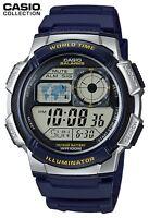 Reloj Digital CASIO AE-1000W-2AV - Hora Mundial - 5 Alarmas - 10 BAR