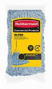 Rubbermaid, #24 Blended Mop Refill, Balanced Blend Of Cotton & Synthetic Yarn