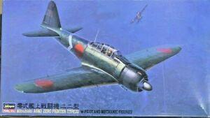 1/48 WW2 Fighter :Mitsubishi A6M3 Zero w/Figures [IJN] #52502 : HASEGAWA