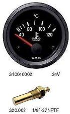 VDO water temp gauge & sender, 24 volt, 52mm 2 inch 40 -- 120 Deg C  310040002
