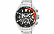 Citizen Men's Eco Drive Orange Black Chronograph Wrist Watch