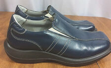 Cable & Co Mens Blue Leather Soft Loafer Shoes Sz 10 Square Toe Made in Italy