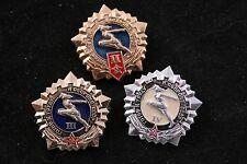 Soviet GTO Lot 3 Sport Labor Defense pin Badge USSR II2 IV 4 III Gold Silver Set