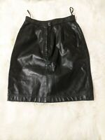Vintage Wilsons Suede Leather Women's BlackMini Leather Skirt Size 6