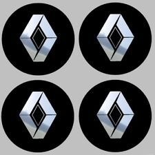 4 stickers RENAULT noir chrome 40 à 100 MM centre jantes KANGOO TRAFIC AVANTIME
