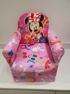 Children's Minnie Mouse Character Good Quality Kids Arm Chair Seat Brand New