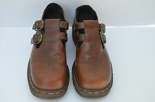 Dr Doc Martens England Brown Mary Jane Double Buckles Womens 6 Made in England