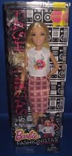 BARBIE COLLECTOR  FASHIONISTAS PETITE BARBIE DOLL #31 ROCK N ROLL PLAID, NEW