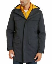 $280 Nautica Mens Jacket Dark Gray Size Small S Parka Hooded 3 In 1 Warm