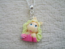 Stunning Muppets Miss Piggy Necklace.With Organza Bag