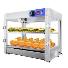 750w 2 Tier Commercial Food Warmer Pie Pizza Cabinet Display Showcase Countertop
