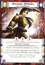 3 x Suzume Shindo, the Final Blade L5R CCG CoM