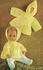 """Ropa de muñecas Tejer patrón para un muñeco bebé 14"""". copia Laminado. (V Muñeca 148)"""