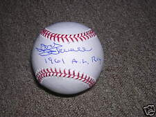 Don Schwall signed in person OML baseball with inscr