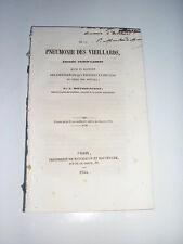 Réunion mémoires PNEUMONIE des vieillards + catarrhale + abcès poumon - 1842/44