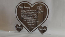 First 1st Anniversary Years Married  Any Year Personalised  Present Gift Heart