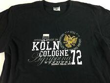 Koln Cologne T-Shirt Germany CCAA Adult Medium Mens Womens Soft Cotton Tee Black