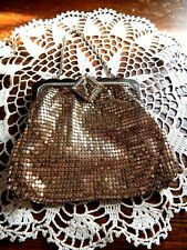 Vintage Deco Whiting & Davis Silver Mesh Evening Bag Purse Rhinestone Wedding