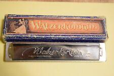 GOLLER.WOBORNIK & CO. AUSTRIA. WALZERKÖNIGIN - MUNDHARMONIKA.  ORIGINAL-BOX.