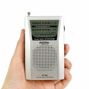 Mini Portable AM/FM Radio Telescopic Antenna Pocket Small World Receiver Speaker