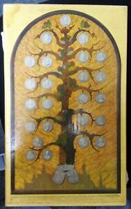 Prent paneel stamboom vorstenhuis Oranje Nassau CJ van der Hoef 1938 Begeer