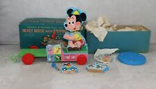 Mickey Mouse with Xylophone Marjay Jaymar Wooden Pull Toy Fisher Price MIB