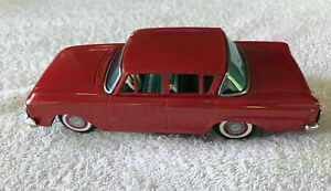 "Vintage 1960's BANDAI 4 Door 8"" RAMBLER Tin Red Friction Vehicle Japan Very Good"
