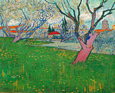 Orchards in blossom view of Arles A1+ by Vincent van Gogh Quality Canvas Print