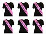 Baby Pink Black Print Hen Night Party Sashes Bride To Be Bridesmaid Mother Sash