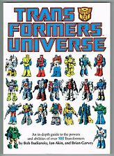 TRANSFORMERS UNIVERSE TRADE PAPERBACK GUIDE HASBRO 1987 VF RARE IN HIGH GRADE