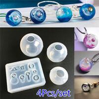 Transparent Ball Pendant Resin Mold Set Silicone Epoxy Mold DIY Jewelry Making
