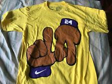 Nike Kobe Bryant MVPuppet LA Lakers Tee Shirt Yellow Small $149.50