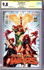Secret Wars #9 Midtown Comics Variant CGC 9.8 NM/MT SS Signed Campbell Phoenix