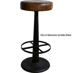HELLO, Barhocker rund 2 Stück, 77 cm hoch industriell, Barmöbel bei Matz Möbel