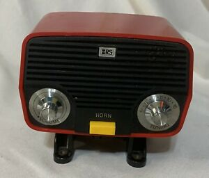 Vintage Red Archer Road Patrol Bicycle Mount AM Radio & Horn Radio Shack Working
