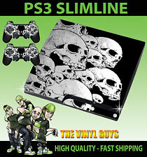 Playstation 3 Slim Skulls Dark Gothic Macabre Skin Sticker + Controller Decals