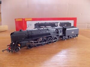 HORNBY R 2105A BR 9F CLASS 2-10-0 LOCO No 92108 in BR Black Livery OO Gauge