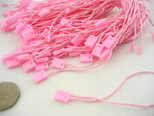 50 Pink Clothing Tag String Lock Fastener Labeling Tagging Supplies square end