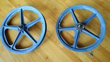 Skyway Tuff Wheel I 1 Mag Wheel PAIR 20 Blue Bendix 1976 Coaster Brake BMX HTF